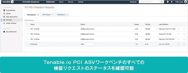 Tenable.ioの PCI ASV 認証