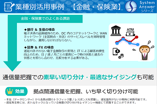 System Answer シリーズ 業種別活用事例(金融・保険業)