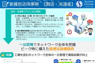 System Answer シリーズ 業種別活用事例(製造・流通業)